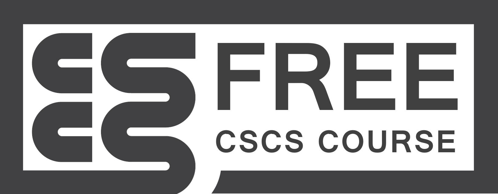 FREE CSCS COURSE